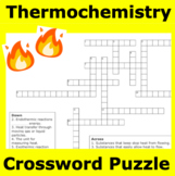 Thermochemistry (Heat energy) Crossword Puzzle