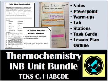 Thermochemistry INB Unit Bundle