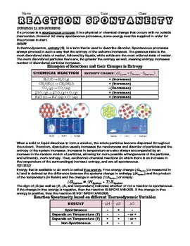 Thermochemistry Worksheets Bundle