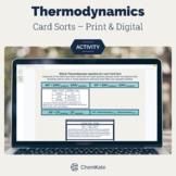 Thermodynamics Cart Sorts for AP Chemistry   Digital Resource