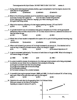 Thermodynamics M.C. Test
