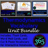 Thermodynamics Vocabulary Unit Bundle