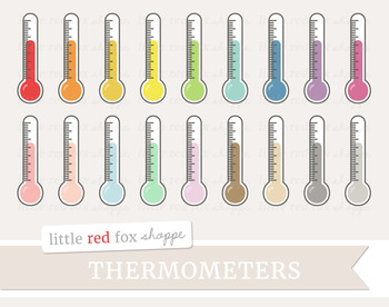 Thermometer Clipart; Weather, Science