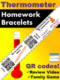 Thermometer Homework Bracelets with QR Codes {Kindergarten}