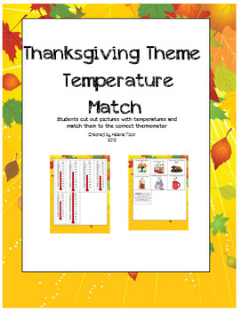 Thermometer, Length, Capacity, Weight Thanksgiving Theme Sorts
