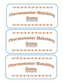 Thermometer Matching Game