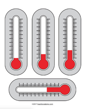 Thermometer Math Set