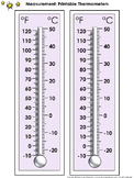 Thermometer Measurement Tools: Printable Thermometer Celsius and Farenheit