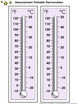 Thermometer Measurement Tools: Printable Thermometer Celsi