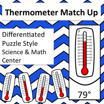 Thermometer and Temperature Match Up Self Correcting Science and Math Center
