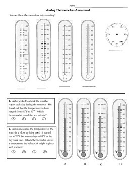 "Thermometer assessment ""between"" temperatures"