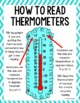 Thermometers Lesson Plan, Anchor Charts, and Worksheet