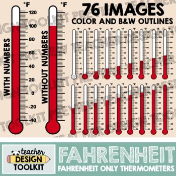 Thermometers Clip Art: Fahrenheit