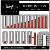 Thermometers Clipart {A Hughes Design}