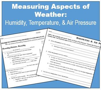 Thermometers, Relative Humidity, and Barometers (middle school) | TpT