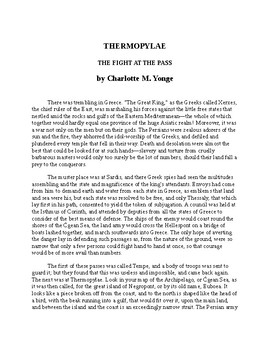 Thermopylae - The Fight at the Pass