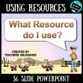 Resources PowerPoint Lesson {Thesaurus, Atlas, Almanac, Encyclopedia}