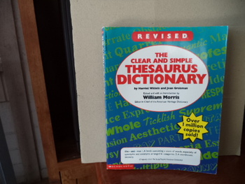 Thesaurus Dictionary  ISBN 0-590-58074-4