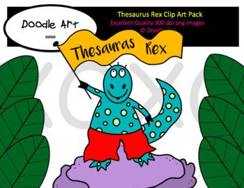 Thesaurus Rex Clipart Pack