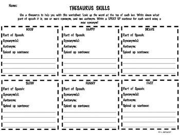 Thesaurus Skills