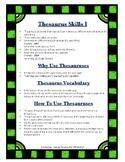 Thesaurus Skills I