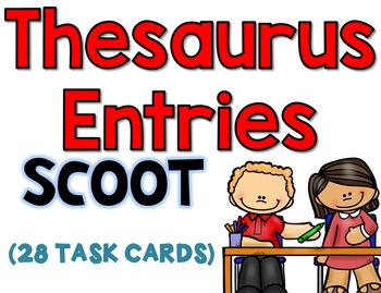 Thesaurus Task Cards L.4.4.C