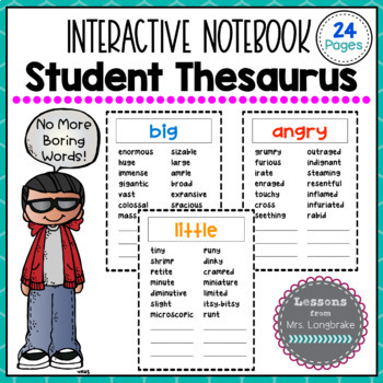 Thesaurus + Synonym Interactive Notebook Mini-Pages 'Personal Thesaurus'