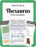 Thesaurus skills Worksheets. No Prep. Study skills.