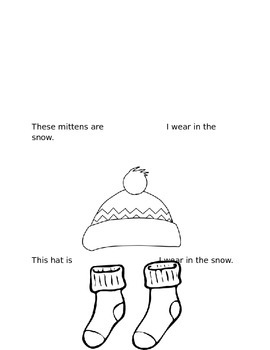 These Are the Clothes I wear in the Snow Emergent Reader