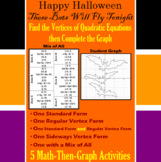 These Bats Will Fly Tonight - Finding Vertices - 5 Math-Then-Graph Activities