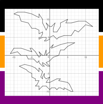 Halloween - These Bats will Fly Tonight- A Coordinate Graphing Activity