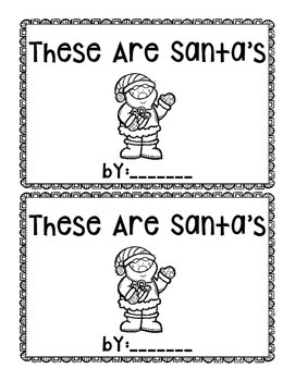 These are Santa's~ emergent reader