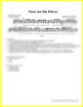 These Are My Elbows: Action Song Sheet Music