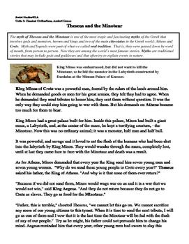Theseus And the Minotaur Ancient Greece Fiction Ancient Gr