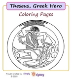 Theseus, Coloring Pages + Story
