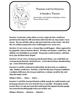 Theseus and the Minotaur / Daedalus and Icarus Readers' Theater and Activities