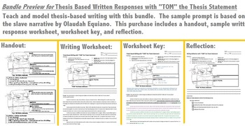 """Thesis Based Written Responses with """"TOM"""" the Thesis Statement"""