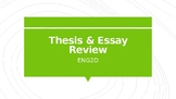 Thesis & Essay Review
