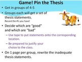 Thesis Handout, Activity and Game