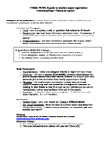 Thesis Paper Assignment and Guide (Brave New World