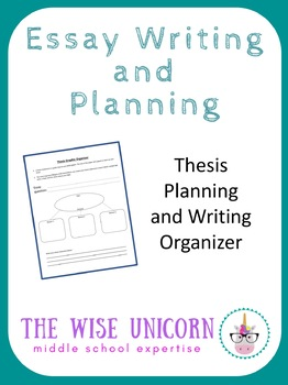 Thesis Planning Graphic Organizer for Developing Writing