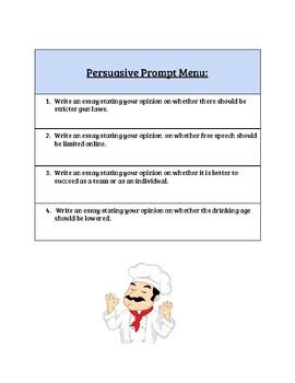 Thesis Prompt Menu
