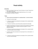 Thesis Ranking Activity