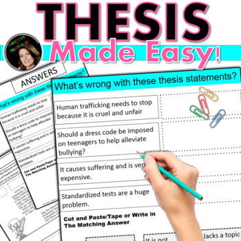 Thesis Statement WORKSHOP! PowerPoint & Printable Edition
