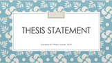 Persuasive Essay Thesis Statement Bundle