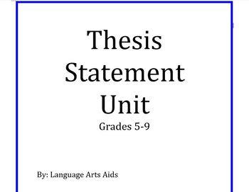 Thesis Statement Bundle