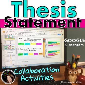 THESIS STATEMENT: ARGUMENTATIVE: COLLABORATION TEMPLATES Google Classroom