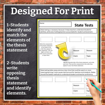 Thesis statement exercises wilmu student writing resources