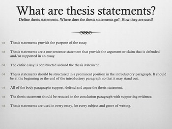 Thesis Statement Composition