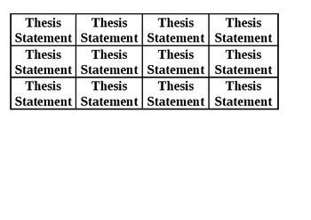 Thesis Statement Equation CLASS SET
